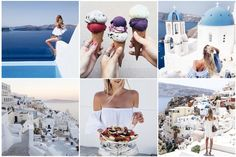 I only published the last update four days ago since I was totally lost in enjoying S a n t o r i n i to the fullest and, therefore, today's update is rather a… Santorini Travel, Greece Travel, Santorini Greece, Pacific West, Leonie Hanne, Affinity Designer, Local Photographers, Places In Europe, Travel Style