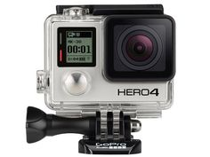 The new GoPro Hero4 Black action camera.