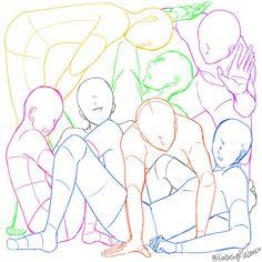 """田畠っぽいさんのツイート: """"7人を正方形に閉じ込める構図です トレスご自由にどうぞ https://t.co/cOvEKK3UVe"""""""