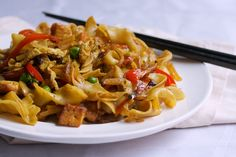 Singapore Curry Noodles with Golden Tofu | Big Girls Small Kitchen