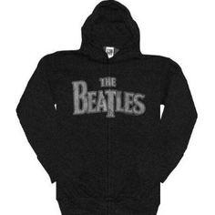 The Beatles Hoodie Official Classic Rock Band Logo Sweatshirt