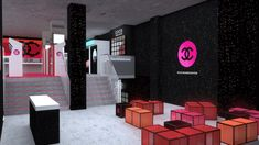 Playful chanel opens coco game center, its innovative beauty pop-up arcade Interior Design Games, Commercial Interior Design, Interior Ideas, Coco Games, Retro Arcade Games, Pacific Homes, Retail Boutique, Retail Design, Pop Up