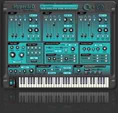 HyperSID By Hypersynth Digital Dj, Digital Piano, Dj Download, Music Recording Studio, Analog Synth, Digital Audio Workstation, Virtual Studio, Music Software, Audio Engineer