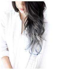 Black Hair Braids -                                                              black to grey ombre by eva lam