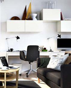 Cualquier rincón es buen lugar para colocar tu silla y estudiar. Si quieres tener un escritorio/ oficina de diseño y no quieres gastar mucho dinero, www.mueblesbonitos.com