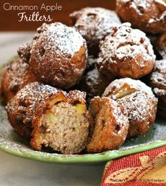 Cinnamon Apple Fritters- As a family, we have a long-standing love of visiting apple orchards. There's just something exciting about a fresh crop of apples and a bountiful harvest. And the smell of apples in the air is intoxicating.