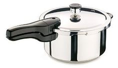 Gleaming Stainless Steel Pressure Cooker 4 Quart * Check this awesome product by going to the link at the image.