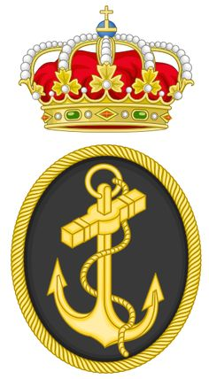 Emblem of the Spanish Navy Badges, Spanish Armada, Army Patches, Naval, Military Insignia, Mystery Of History, Sketch Inspiration, Family Crest, Toy Soldiers