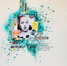Layout for OUPS March challenge from Mademoiselle Eugenie (Russia)