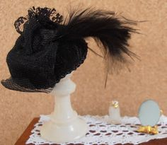 Tutorial | Extremely easy no-sew ladies' hats | Dollshouses and minis