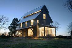 Farmhouse - farmhouse - exterior - charlotte - Pursley Dixon Architecture