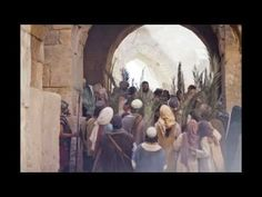 """On the fifth day before Passover, Jesus rode into Jerusalem on a donkey as was prophesied. People recognized Him as their King, shouted """"Hosanna,"""" and placed their garments and palm fronds on the ground in front of the donkey. (See Matthew Mark Zechariah Triumphal Entry, Son Of David, 5 April, The Great I Am, Bible Images, Palm Sunday, The Donkey, Jesus Cristo, New Testament"""