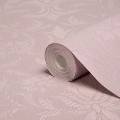 Allure Dusky Pink Damask Wallpaper | Departments | DIY at B&Q