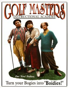 Wouldn't one of these Stooges - Golf Master Tin Sign Nostalgic Retro Vintage Tin Signs Metal Wall Décor look great in your home, basement, bar, or metal garage Golf 7, New Golf, Play Golf, Retro Humor, Vintage Humor, Retro Funny, Funny Vintage, Vintage Signs, Vintage Movies