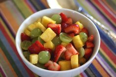 Barefeet In The Kitchen: Honey Lime Summer Fruit Salad