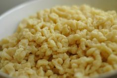 I miss my Oma's cooking, but this recipe looks similar to her recipe for spaetzle