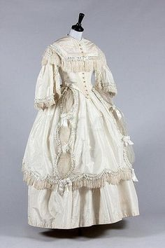 Wedding Ensemble with Day Bodices, 1857
