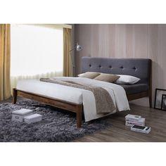 Inspired by mid-century modern Scandinavian design, the Kyros Upholstered Platform Bed provide additional option for your modern bedroom setting.