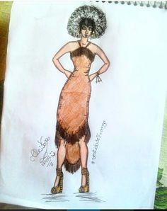 #lookfeminino #lookAfro #moda #croqui #desenhos #Pinterest