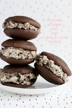 Chocolate Whoopie Pies with Cookies n Cream Filling! | this heart of mine
