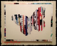 Butterfly Wall Art tutorial - made from magazine page strips