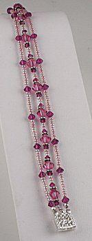 IDEA: Rosy Three Strand Bracelet (eebeads.com)