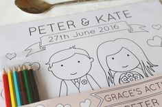 Personalised Wedding Childrens Activity Pack by GWPrints on Etsy
