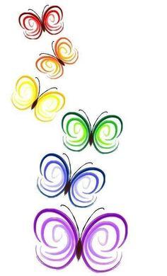 Butterfly Swirls Colourful Design