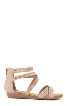 Deb Shops sandal with mutli straps and studs