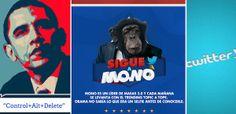 La política se llena de humor con #Obama y su nuevo #eslogan y un mono que quiere ser #MinistrodeEconomía. Más novedades del sector en aldeavillana.com
