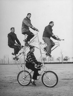 Bike, now this is how to get around with your friends. When none of you has a drivers license.