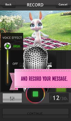 Zoobe Cam - animated personal message recorder. This one is a must have!