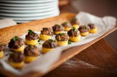 Ladies Luncheon | HeirloomLA - Wild Mushroom Polenta Cakes