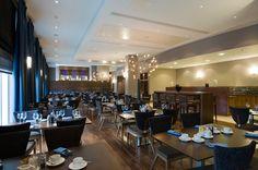 Modern Hotel | Radisson Blu Hotel interior design by Ward Robinson | Durham | Filini Restaurant
