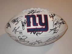 2012 NEW York Giants Team Signed Autograph Football with Certificate of Authenticity COA by NFL. $299.99. Buying a authentic hand signed autographed FULL SIZE FOOTBALL . Item comes with Coa. AND ALSO A LIFE TIME MONEY BACK IF NOT HAPPY !!!