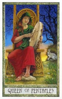 "druidcraft tarot queen of pentacles ""earth mother"""