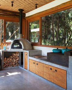 Kitchen Room Design, Outdoor Kitchen Design, Home Decor Kitchen, Dream Home Design, Home Interior Design, House Design, Küchen Design, Little Houses, Cozy House