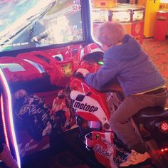 Shared by christineloveslove #arcade #microhobbit (o) http://ift.tt/2f10vKA at the arcades with the boys and my 5 year old nephew today. Look at him go! He won too! Raining all day which is tiring in its self. Boys played Olympics on the Wii too. Was awesome to spend some time with my nephew. I love my family.  awesome day.  #gaming #games #motogp #motobike #bike #nephew #stepkids #stepmum #aunty #broke #money #dolla #kerching #ridding #biker #youngbiker #biker #learning #5yo #boys #essex…