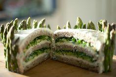 smörgåstårta, ie. sandwich cake.  Yes, that's right, sandwich cake!  By calivintage
