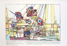 Eduardo Paolozzi, 'Turing 1 & 2' Screenprint in colours, 2000.