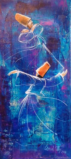 #cemaltoy #art #dervishes Dance Paintings, Paintings Famous, Dancing Drawings, Art Drawings, Turkish Art, Painting Collage, Islamic Art Calligraphy, Dance Art, Art Pictures