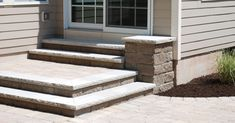 paver patio stairs with landing - Google Search