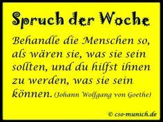 Spruch der Woche, Sprüche Zitate Zitat Goethe