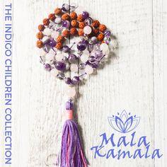 Pin now shop later! Mala Kamala Mala Beads - Boho Malas, Mala Beads, Mala Necklaces and Bracelets, Childrens Malas, Jewelry and Baby Necklaces