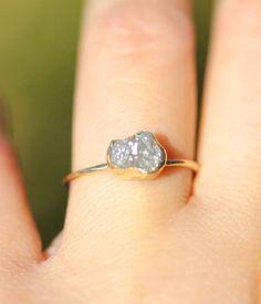 Christmas Special Offer Gray Raw Diamond In 14K par louisagallery