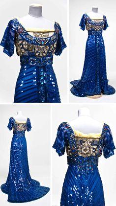 Evening gown, Callot Soeurs, 1909. Gregg Museum, North Carolina State Univ.