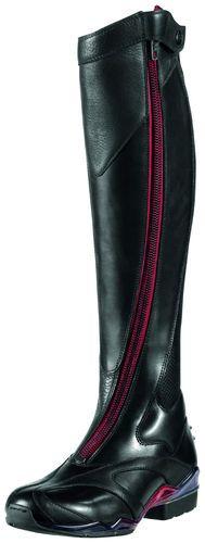 *drool* Ariat Ladies Volant Front RED ZIP Show Boot Black 10007901 NEW | eBay