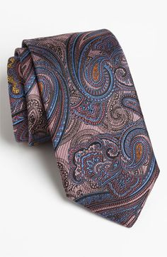 Robert Talbott Woven Silk Tie available at Nordstrom Tall Men Fashion, Mens Fashion, Paisley Tie, Paisley Dress, Top Clothing Brands, Tie And Pocket Square, Pocket Squares, Tie Crafts, Elegant Man