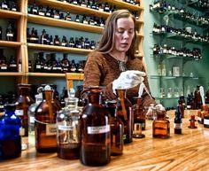 DSH Perfumes - Dawn Spencer Hurwitz in her studio lab.