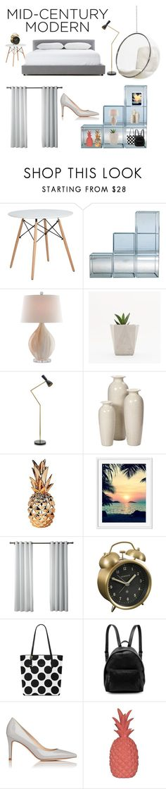 """""""Modern bedroom"""" by mullinsnicole ❤ liked on Polyvore featuring interior, interiors, interior design, home, home decor, interior decorating, Talking Tables, Newgate, STELLA McCARTNEY and L.K.Bennett"""